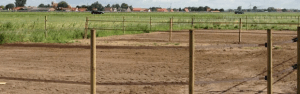 Paardenpaddock met drainagezand