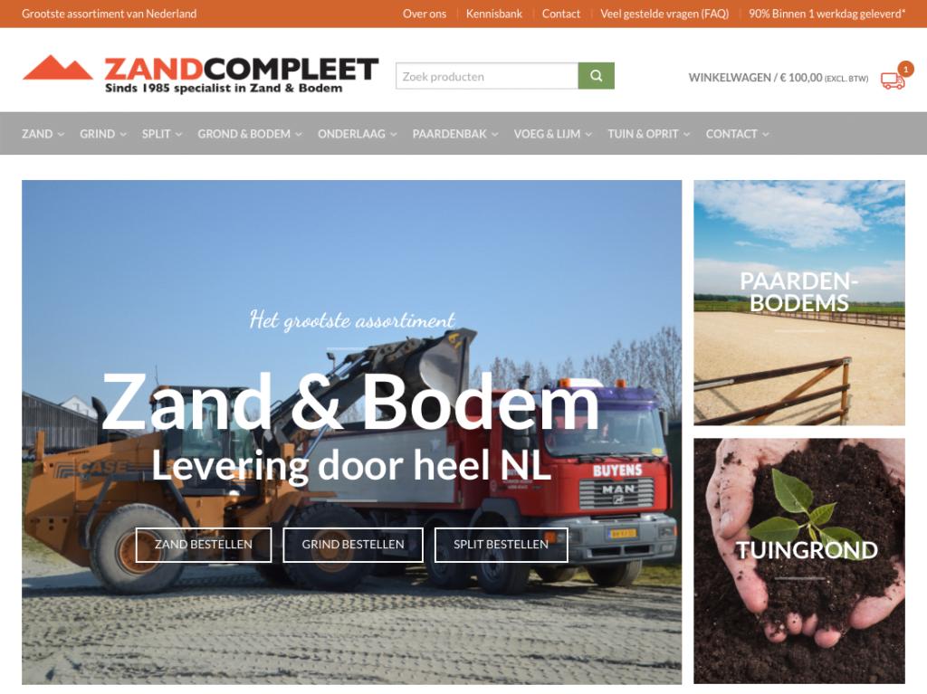 Nieuwe homepage Zandcompleet