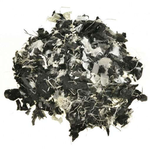 Polyvlokken Bont met vezels - Bovenaanzicht