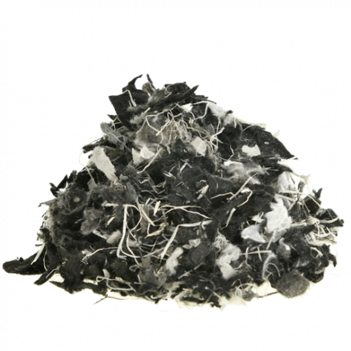 Polyvlokken Bont met vezels - achtergrond wit