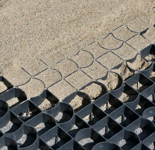 Paddockrooster met zand