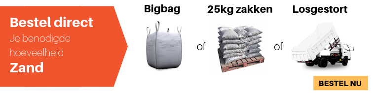Bedwelming Hoeveel zand heb ik nodig? | Zandcompleet KV56