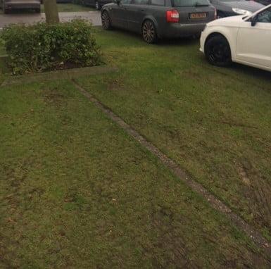 Grasrooster parkeerplaats