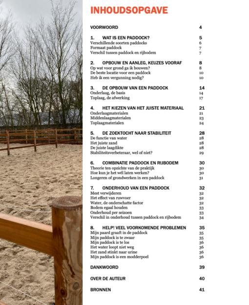 Paddock Paard ebook inhoudsopgave 1.1.0